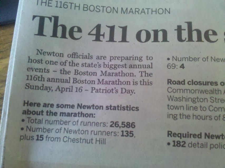 NEWTON TAB: Marathon Sunday is almost here