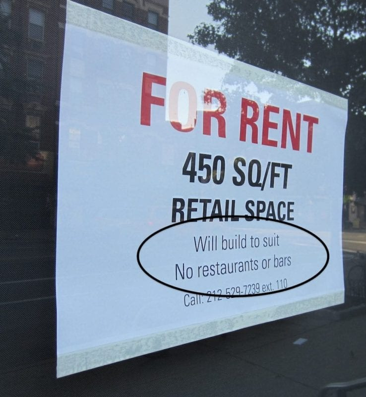 If Newton has so many vacant store fronts, why are rents so expensive?