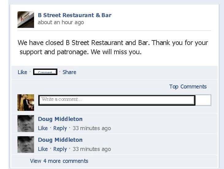 B Street Closing?