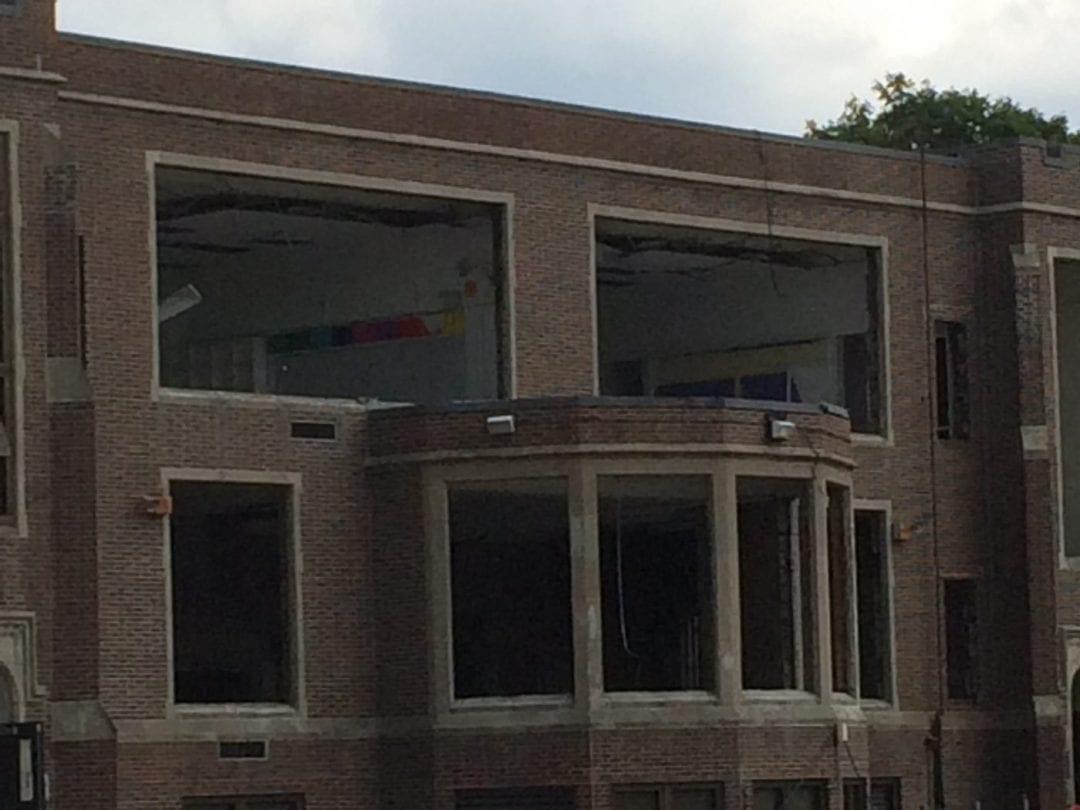 Angier demolition begins