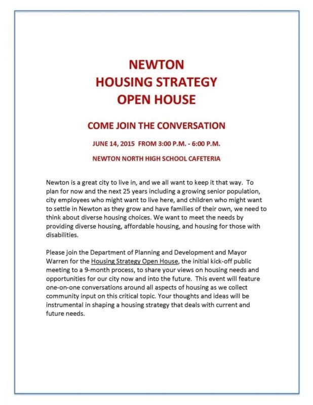 Housing Strategy Open House on June 14