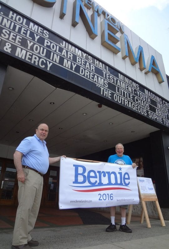 Bernie Sanders virtually right here in Newton this Wednesday, July 29