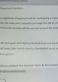 Newton Highlands Park is getting a facelift!