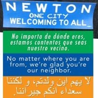 Two signs that Newton is welcoming…