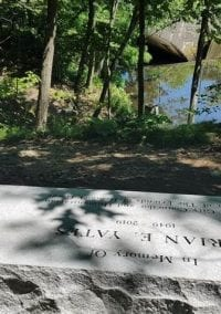 Hemlock Gorge: Dedication of Brian Yates Memorial, Aug.6