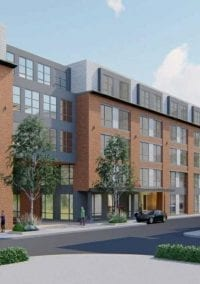 Mixed use project proposed along the Charles River in Nonantum