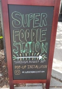 Superfoodie Station: Pop-up Art Installation in Newton Highlands, Free til Aug. 30