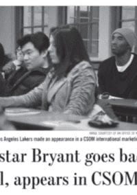 The day Kobe Bryant audited a class at Boston College